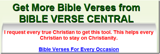 BiBle Verses for every occasions