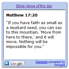 bible verse of the day widget